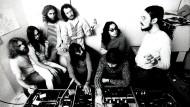 Im Ausland höher geachtet als in der Heimat: die Band Faust im Musikstudio zu Beginn der Siebzigerjahre