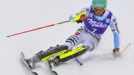 Felix Neureuther in seinem Element: Beim Slalom am Lauberhorn in Wengen