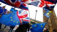 Proteste gegen den Brexit am Mittwoch vor dem britischen Parlament