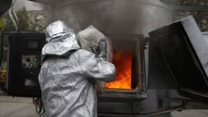 Peru lässt Rauschgift in Rauch aufgehen