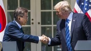 Südkoreas Präsident wünscht Trump den Friedensnobelpreis