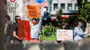 Mehrere Proteste in Frankfurt