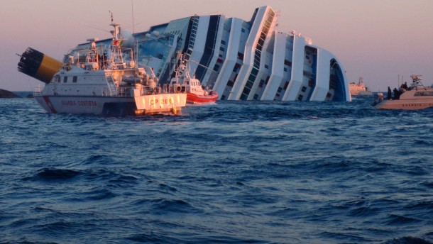 Search operations in the Costa Concordia liner