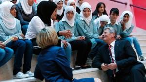 Demokratielehrer der Mädchen Palästinas