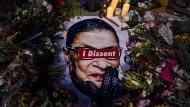 Erinnerung an die verstorbene Verfassungsrichterin Ruth Bader Ginsburg