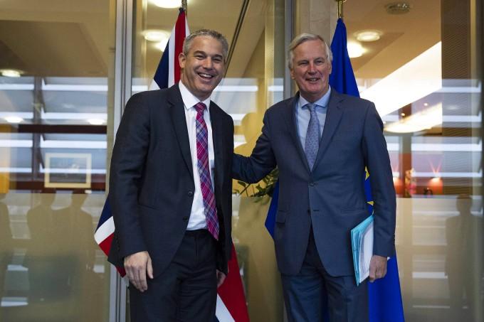 Hatten ein konstruktives Treffen: Stephen Barclay (Großbritannien) und Michel Barnier (EU)