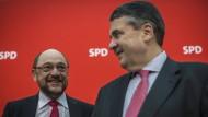 Da waren Welt und Umfragewerte noch in Ordnung: Schulz und Gabriel im Februar in Berlin