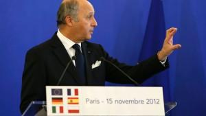 Frankreich will syrische Rebellen bewaffnen