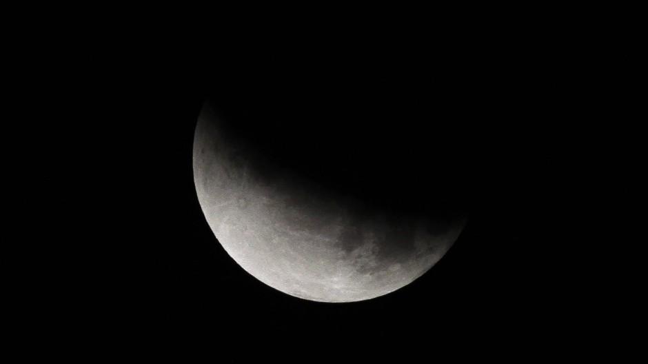 Blick auf den Mond