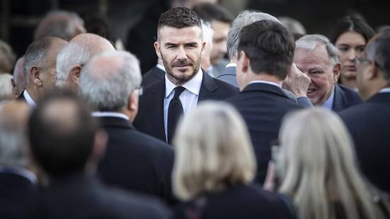 David Beckham weiht Fußballplatz ein