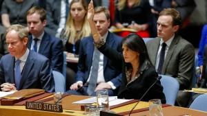 Trump-Regierung legt Veto gegen Jerusalem-Resolution ein