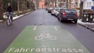 Fahrradstraße in Darmstadt