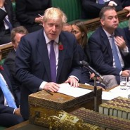 Boris Johnson am Montagabend im Unterhaus