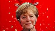 Ein bewegendes Jahr für Angela Merkel. Illustration von Mart Klein und Miriam Migliazzi.