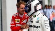Sebastian Vettel verpasst die Pole Position nur knapp – Valtteri Bottas startet von Platz eins.
