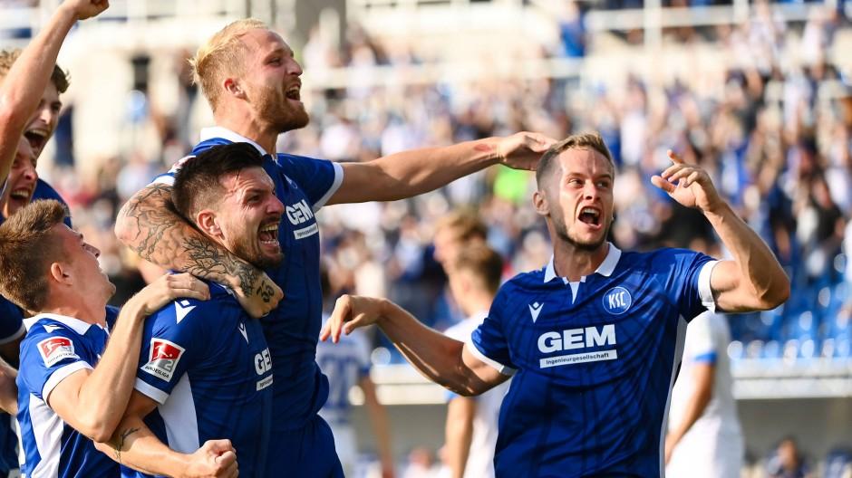 Starten stark in die Saison: Karlsruhe gewann gegen Darmstadt bereits sein zweites Spiel.