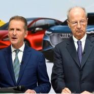 VW-Chef Herbert Diess mit dem Aufsichtsratsvorsitzenden Hans Dieter Pötsch