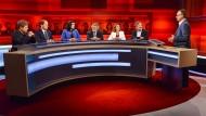 """Betitelt war die Sendung mit """"Die gerupfte Kanzlerin – wie regieren nach dem Debakel der Volksparteien?"""""""