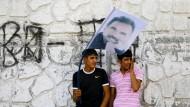 Sympathisanten des inhaftierten PKK-Führers Abdullah Öcalan in Diyarbakir