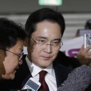 Der derzeitige Vize-Vorsitzende des Smartphone- Marktführers Samsung Electronics Anfang Dezember in Seoul: Nun wurde gegen Lee Jae-yong Haftbefehl beantragt.