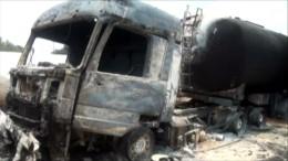 Tanklaster geht in Flammen auf
