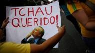 Diese Demonstranten freuen sich vermutlich über die Abberufung von Renan Calheiros.