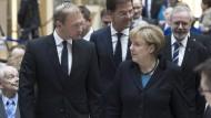 Neues politisches Traumpaar? FDP-Chef Christian Lindner im Gespräch mit Angela Merkel