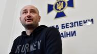 Verwirrung um totgeglaubten Journalisten: Arkadi Babtschenko, der am Mittwoch an einer Pressekonferenz des ukrainischen Geheimdienstes teilgenommen haben soll.