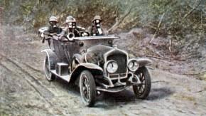 Historisches E-Paper zum Ersten Weltkrieg: Im Auto auf Grenzwegen