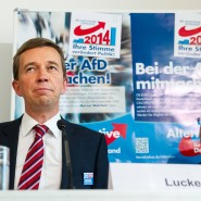AfD-Aushängeschilder Bernd Lucke (rechts) und Hans-Olaf Henkel im Haus der Bundespressekonferenz