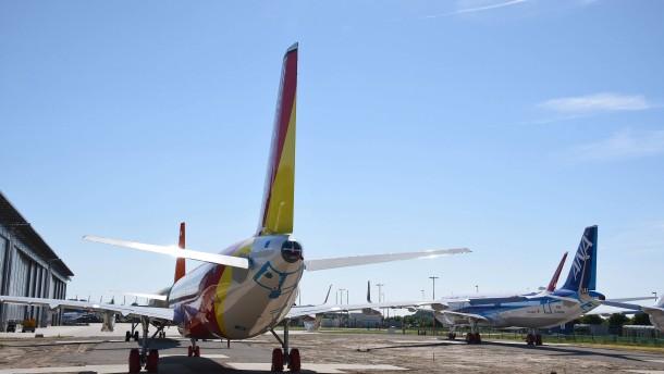 Flugzeugstau in Airbus-Werken