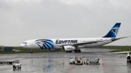 Eine Maschine der ägyptischen Fluggesellschaft Egypt-Air.