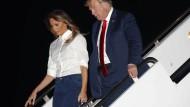 Präsident Donald Trump bei seiner Rückkehr nach Washington