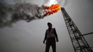 Ölförderung in der irakischen Provinz Basra