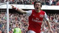 Er kann es noch: Tomas Rosicky trifft wieder - gegen Tottenham ein besonders schönes Erlebnis