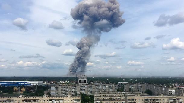 Viele Verletzte bei Sprengstoff-Explosionen in Russland