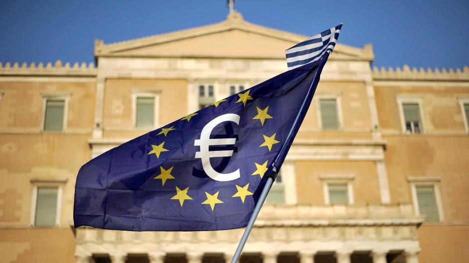Auf einer Demonstration in Athen.