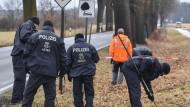 Hier wurden die Polizisten überfahren: Bundesstraße 168 in Oegeln im Landkreis Oder-Spree (Brandenburg).