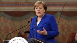Merkel blickt mit Sorge auf den Nahen Osten
