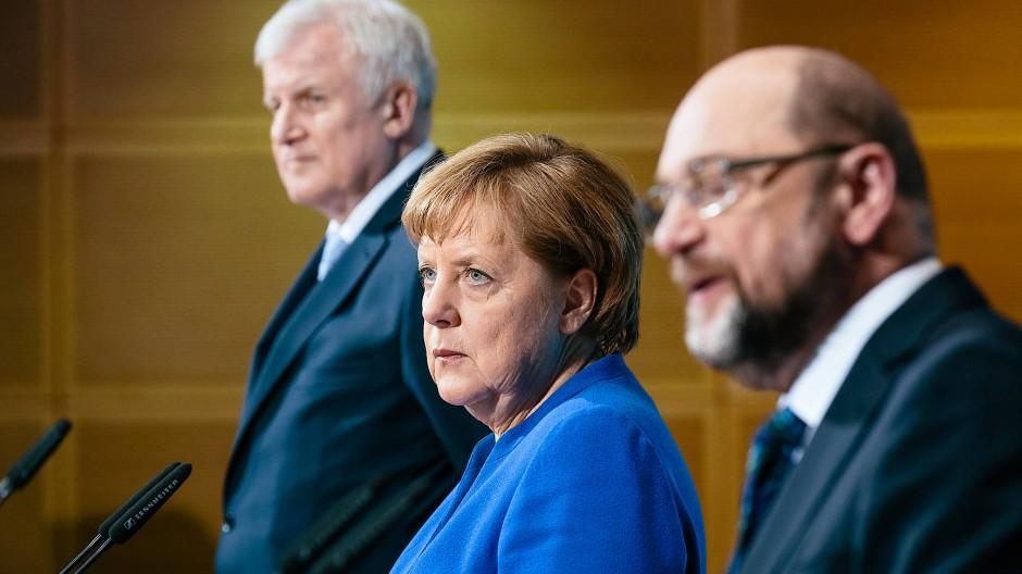 Schaffen es Horst Seehofer, Angela Merkel und Martin Schulz bis Karneval die Koalitionsgespräche erfolgreich abzuschließen?