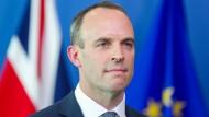 Der neue Brexit-Minister Dominic Raab im Juli in Brüssel.