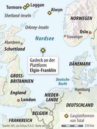 Bohrinsel In Der Nordsee Gasleck Setzt Total Konzern Unter Druck