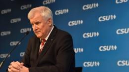 Seehofer: Große Koalition klare Präferenz der CSU