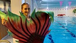 Mit Flosse ins Schwimmbad