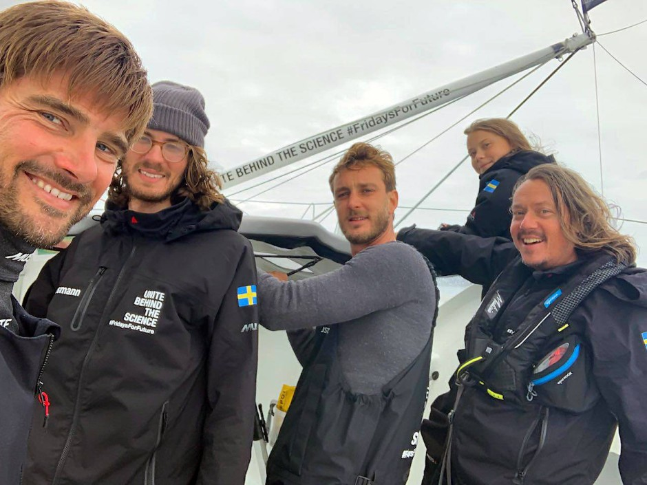 """""""Spannende Reise"""": Vergangenen August segelte Boris Herrmann gemeinsam mit Greta Thunberg über den Atlantik."""