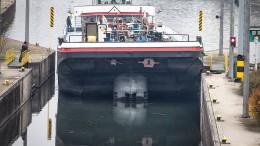 Main gesperrt wegen eines havarierten Schiffs