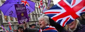 Brexit-Anhänger am Sonntag in London