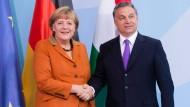 Die Bundeskanzlerin mit dem ungarischen Ministerpräsidenten Orbán in Berlin