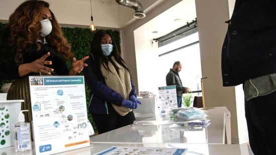 Coronavirus-Pop-up-Store eröffnet in Washington