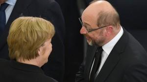Merkel und Schulz einigen sich mit Sendern